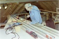 Bau an der Spur-0-Anlage im Dorfzentrum