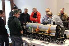 Gezeigt werden spezielle Modelle aus der Gartenbahn-Szene Schweiz