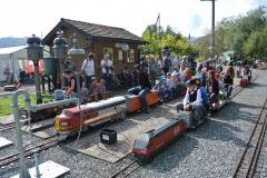 Hochbetrieb im Bahnhof Blatten