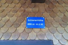 Detail am Bahnhofgebäude